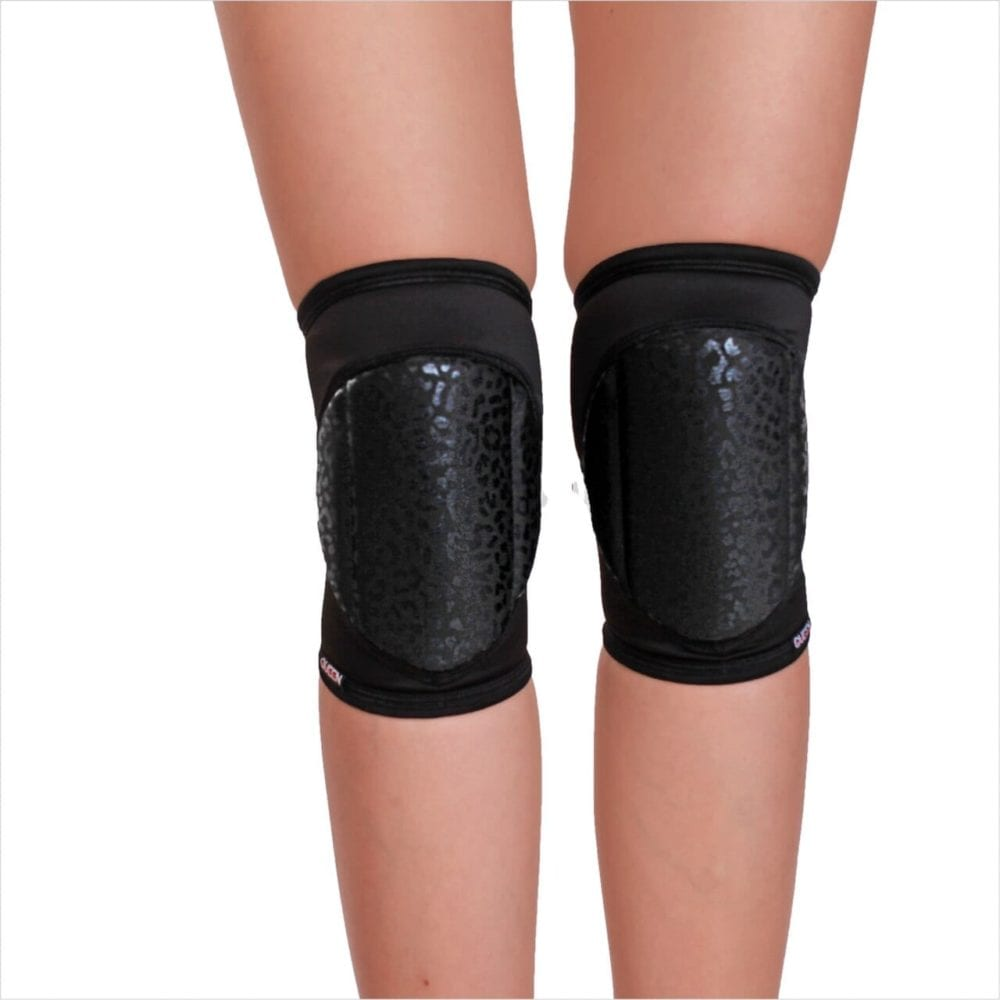 "knee pads for dancing "" Wild Black"" brand Queen Pole Wear"