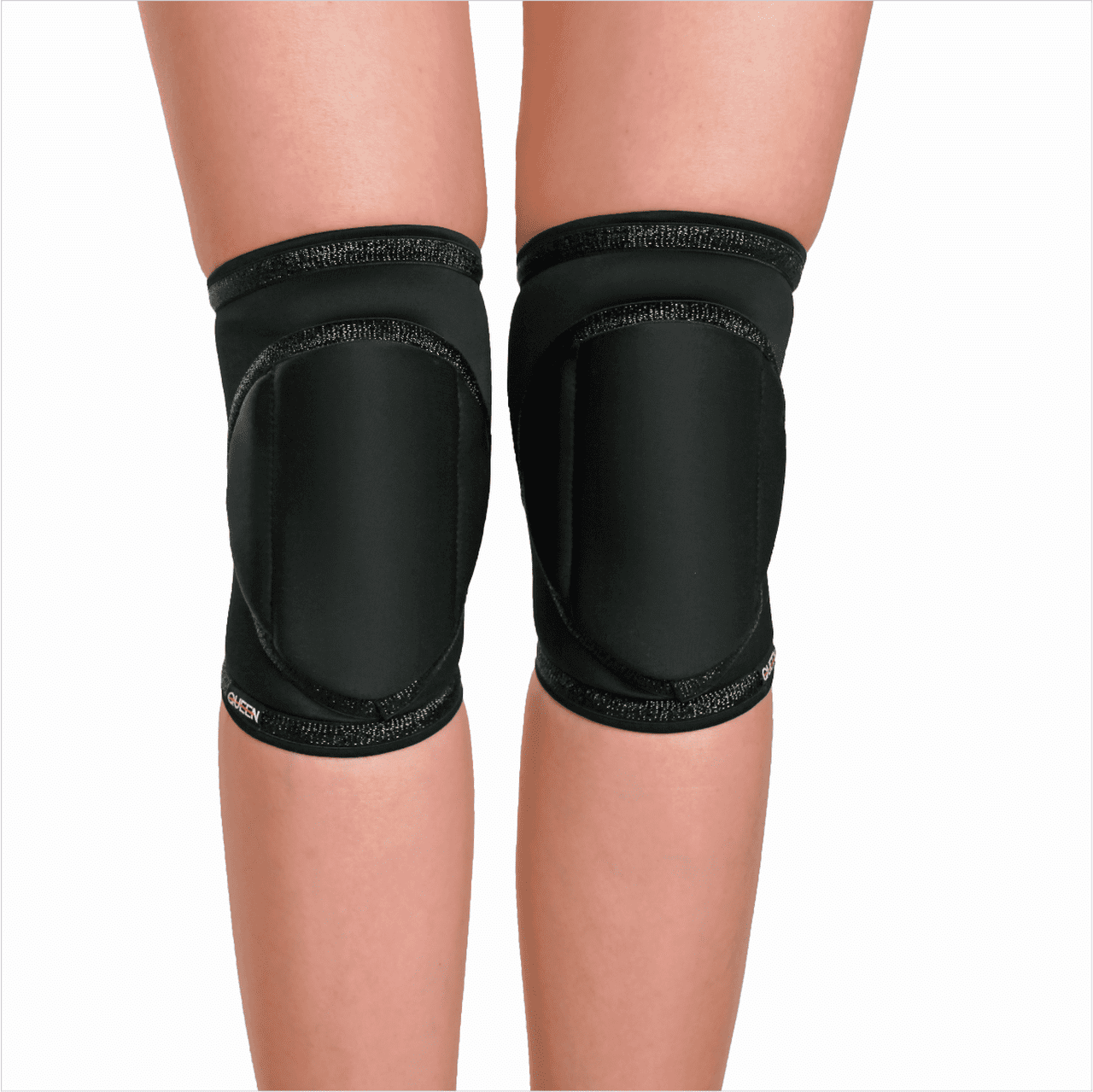"knee pads for dancing and pole ""Black Sparkle"" brand Queen Pole wear"