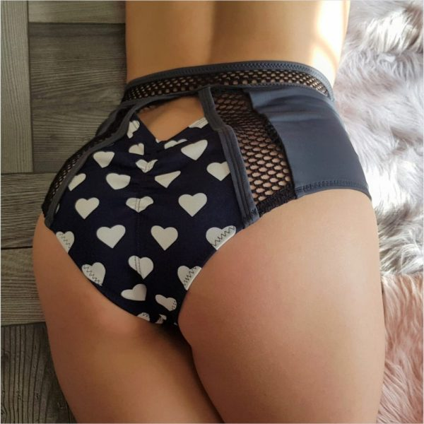 """clothes for pole dance shorts """"Love in Blue"""" Queen Pole Wear brand"""