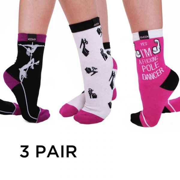 Queen Pole Dance Socks