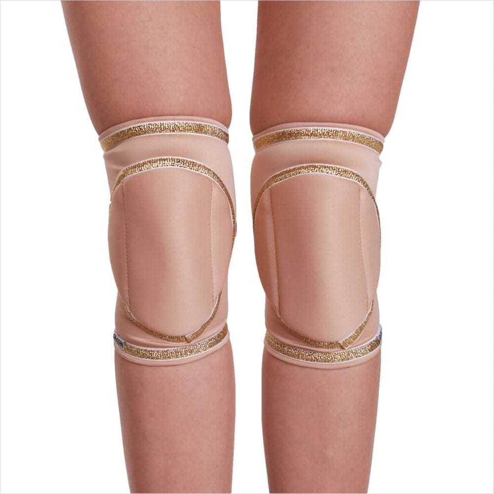 """knee pads for dancing """"Natural Gold"""" brand Queen Pole Wear"""