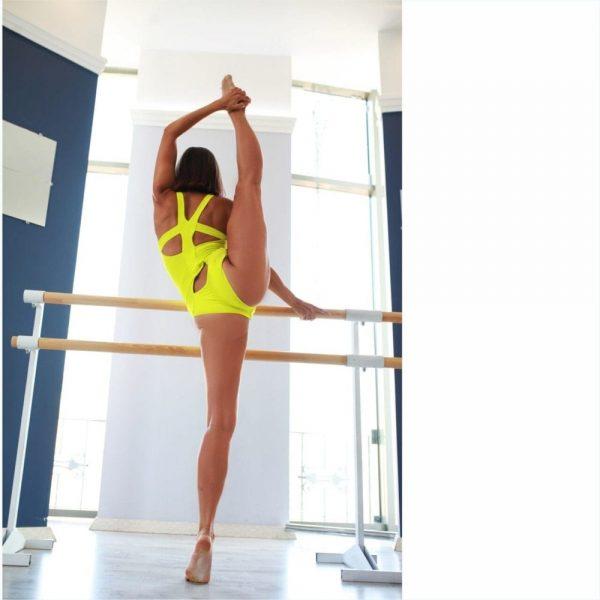 "одежда для пол денс Боди ""Tori Yellow"" бренд Queen Pole Wear"