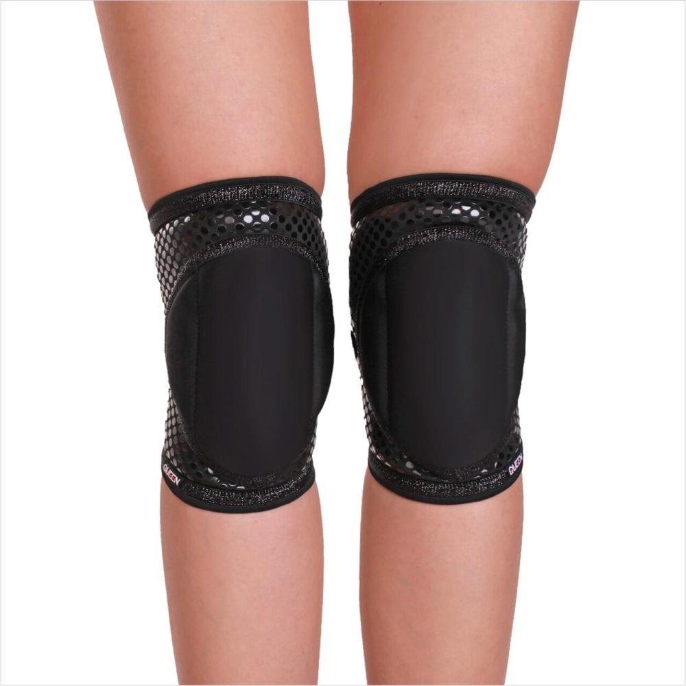 "наколенники для танцев модель ""Black Sparkle Grip"" бренд Queen Wear"