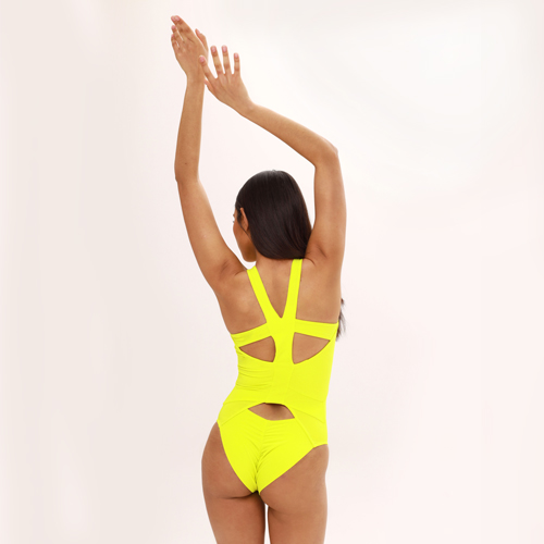 "Clothes for pole dance Bodysiut ""Tori Yellow"" brand Queen Wear"