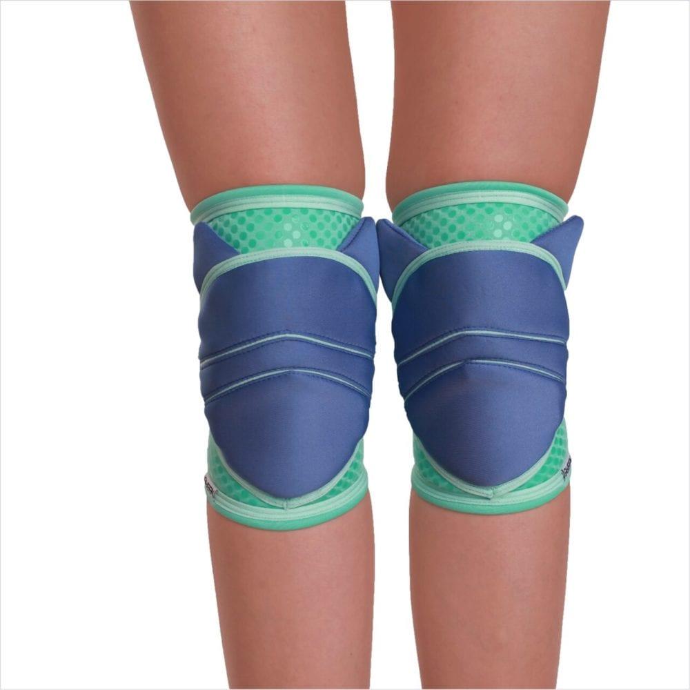 """knee pad pole dance """"Kitty Blue Grip"""" brand Queen Pole wear"""