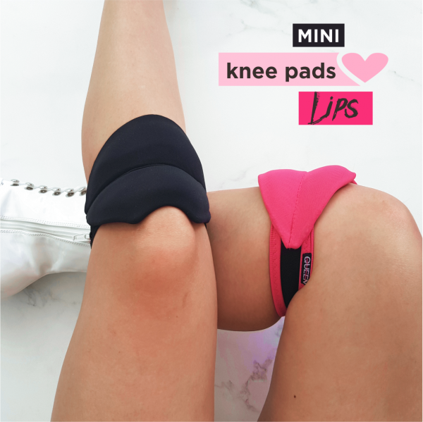 "knee pads for dancing ""Lips Black White Pink"" brand Queen Pole wear"