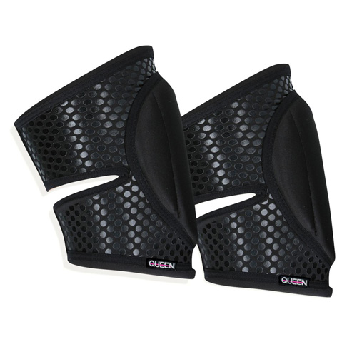 "Queen Wear brand knee pads model ""Sleek Black Grip"" Queen Pole Wear"