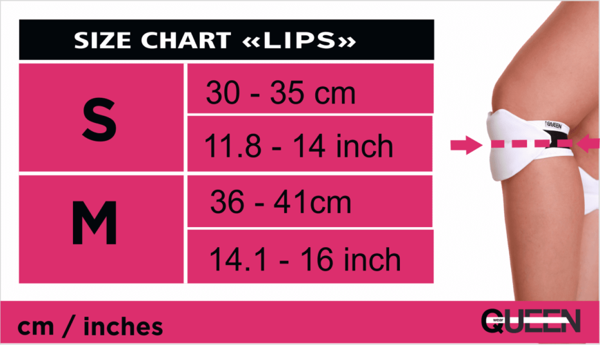 SIZE CHART for slides Queen Pole Wear