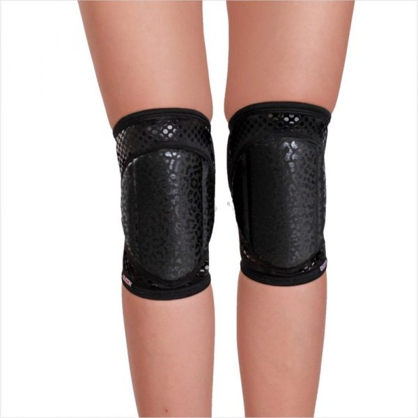 "knee pads for dancing ""Wild Black Grip"" brand Queen Pole wear"