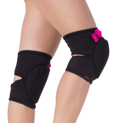 """knee pad pole dance """"Black Pretty Pink"""" brand Queen Pole wear"""