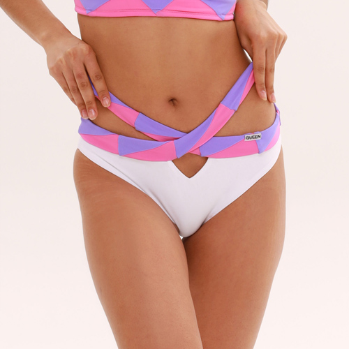 pole clothes shorts Azure Pink brand Queen Wear