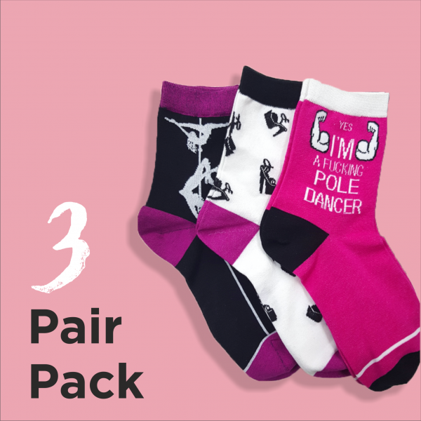 pole fitness clothes Happy socks Queen Pole Wear
