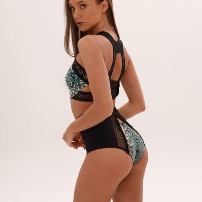 "Clothes for pole dance shorts ""Stay Wild in Blue"" brand Queen Pole Wear"
