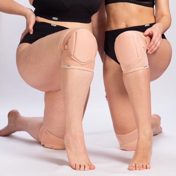 queen pole wear nude latte knee pads for pole dance 7