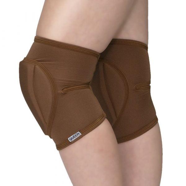"knee pads for dancing ""Nude Mocha"" brand Queen Pole wear"