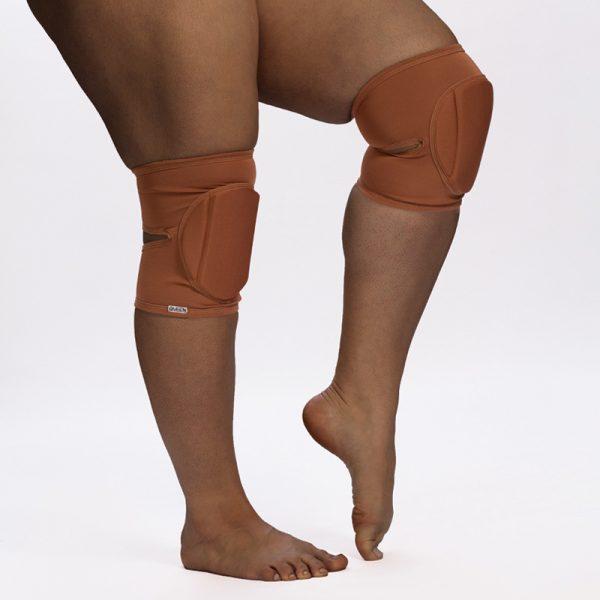 queen brand nude mocha knee pads for dance 4