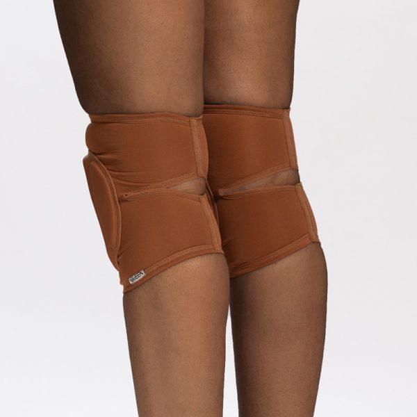 queen nude mocha knee pads for pole dance 2