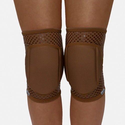 """knee pad pole dance"""" Nude Mocha Grip """"brand Queen wear"""
