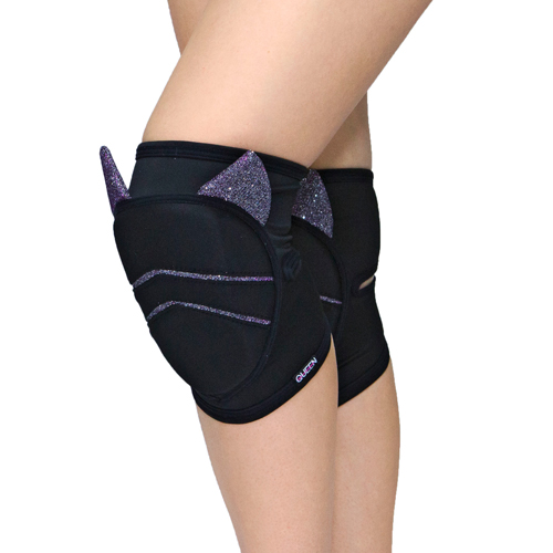 "knee pads for dancing ""Moon Cat"" brand Queen wear"