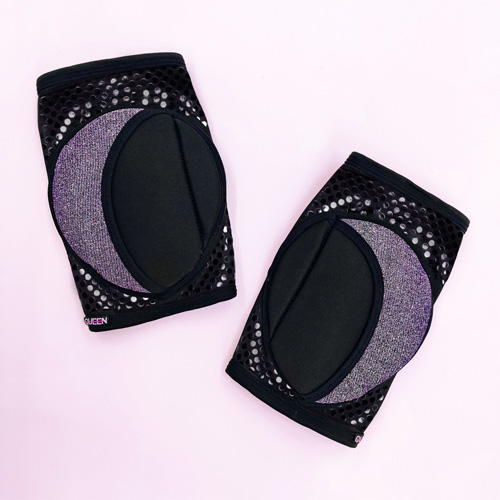 "knee pads for dancing""Moonlight Grip"" brand Queen wear"