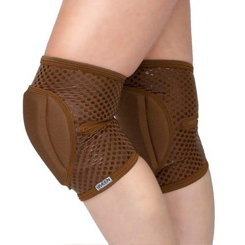 """knee pads for dancing """"Nude Mocha Grip """"brand Queen wear"""