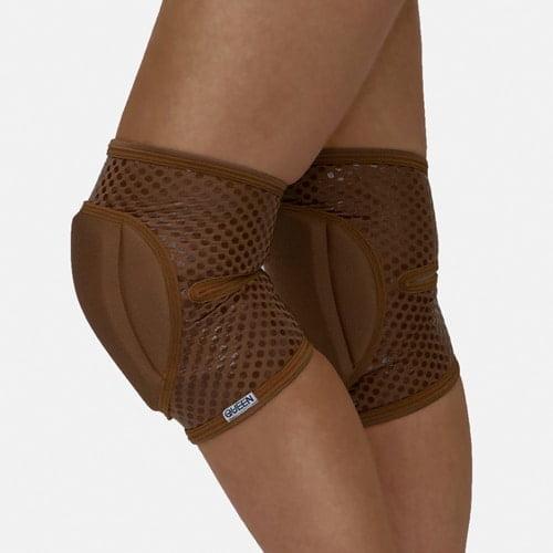 """knee pads for dancing model """"Nude Mocha Grip"""" brand Queen wear"""