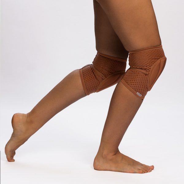 queen nude mocha grip knee pads for dancing 6