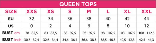 ENG SIZE TOPS pole dance queen wear