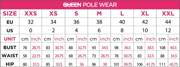 пол денс size queen pole wear