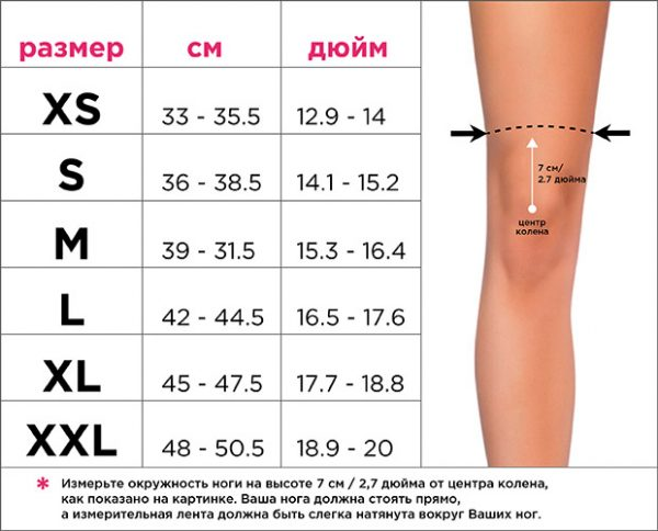 SIZE-CHART-наколенники knee queen размер наколенников пол денс Queen Pole Wear