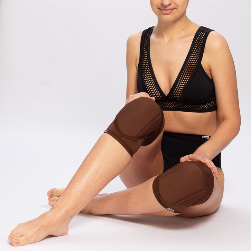 queen brand cacao knee pads for pole dance 2