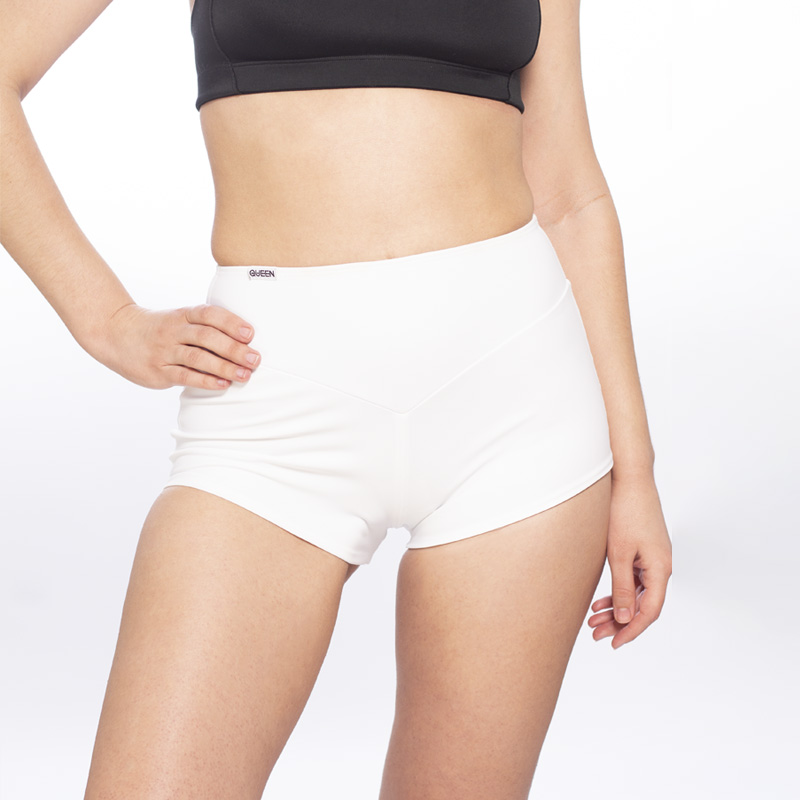 queen High Waisted Shorts Classic White Sporty for dance 1