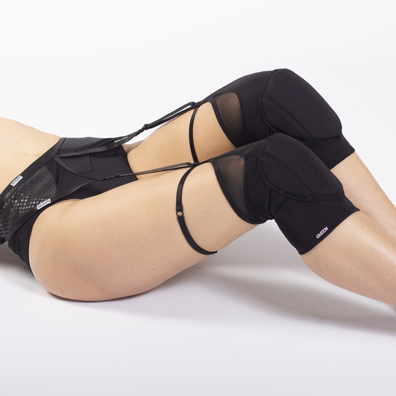 queen black knee pads for pole dance 2