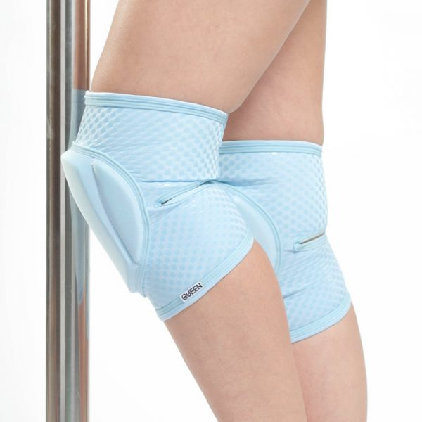 queen knee pads classic blue for pole dance 1