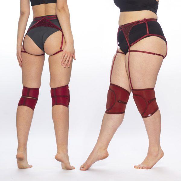 queen brand set knee pads and garter belt 4